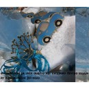 ΑΥΤΟΚΙΝΗΤΑΚΙ ΜΕ ΣΙΕΛ ΣΜΑΛΤΟ ΚΑΙ ΕΠΙΧΡΥΣΟ ΔΕΝΤΡΟ ΕΥΧΩΝ ΓΙΑ ΜΠΟΜΠΟΝΙΕΡΕΣ ΒΑΠΤΙΣΗΣ - ΔΩΡΑ ΠΑΡΤΥ - ΕΟΡΤΩΝ - ΓΕΝΝΗΣΗΣ χονδρική τιμή ΤΖΑ-92297/41170