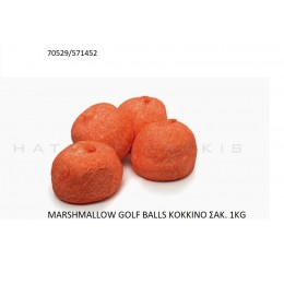 MARSHMALLOW GOLF BALLS KOKKINO ''ΧΑΤΖΗΓΙΑΝΝΑΚΗ'' 1KG 70529/571452