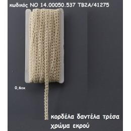 ΚΟΡΔΕΛΑ ΔΑΝΤΕΛΑ ΤΡΕΣΑ ΧΡΩΜΑ ΕΚΡΟΥ χονδρική τιμή NO 14.00050.537 ΤΒ2/41275