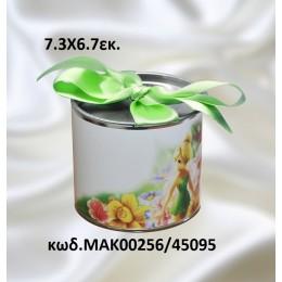 ΝΕΡΑΙΔΑ -τσίγκινος κουμπαράς με εκτύπωση 7.3Χ6.7 σε χοντρική τιμή  ΜΑΡ-00256