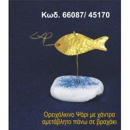 ΨΑΡΙ ΟΡΕΙΧΑΛΚΙΝΟ ΠΑΝΩ ΣΕ ΒΡΑΧΑΚΙ 66087/45170